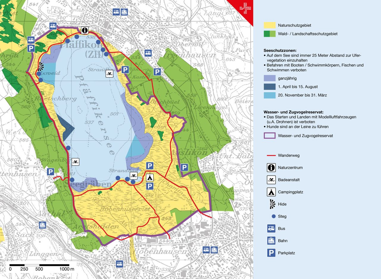 Karte Schutzgebiet Pfäffikersee